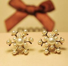 Classic Gold Snowflake Style Stud Earrings - $8.29