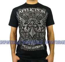 Affliction Fedor Emelianenko Warbird A1088 Black MMA Fight Black T-shirt... - $37.04+