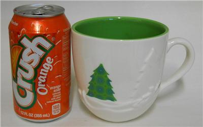 2006 STARBUCKS Holiday ~ Christmas Raised Trees Sledding Deer Cup Mug 16 fl. oz.
