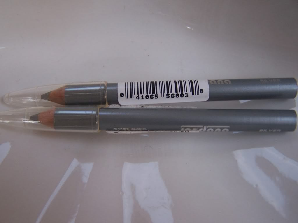 Primary image for Jordana Mini Eyeliner Eye Pencils Set of 2 Silver
