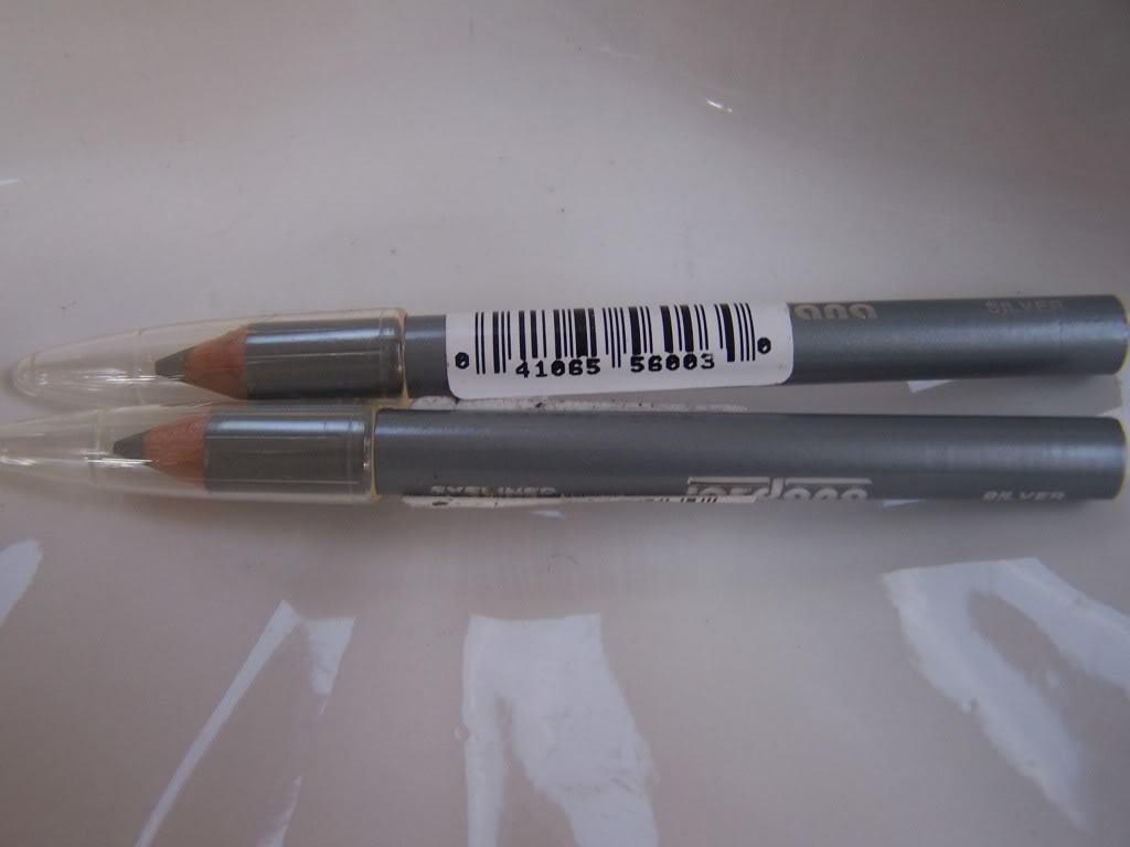 Jordana Mini Eyeliner Eye Pencils Set of 2 Silver