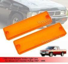 Front Bumper Orange Light Lens For Nissan D21 Frontier Pickup 1987 - 1995 - $7.83