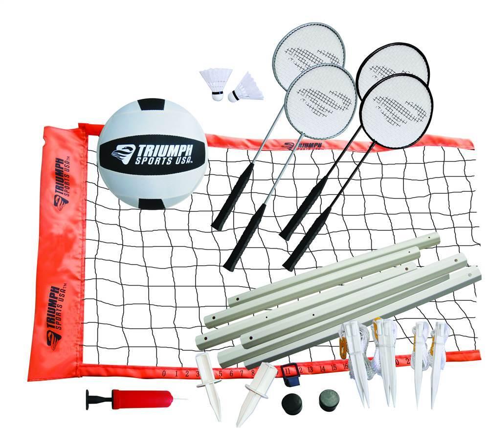 Volleyball badminton set