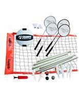 Volleyball Badminton Combo Set Net Poles Rackets Birdies Shuttlecocks Sp... - $1.810,58 MXN