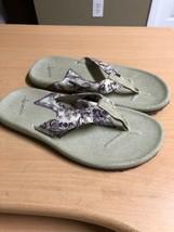 Teva S/N 4238  women's flip flops sz 7. Khaki Canvas - $23.10