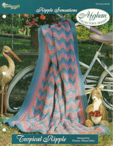 Needlecraft Shop Crochet Pattern 962390 Tropical Ripple Afghan Collector... - $4.99