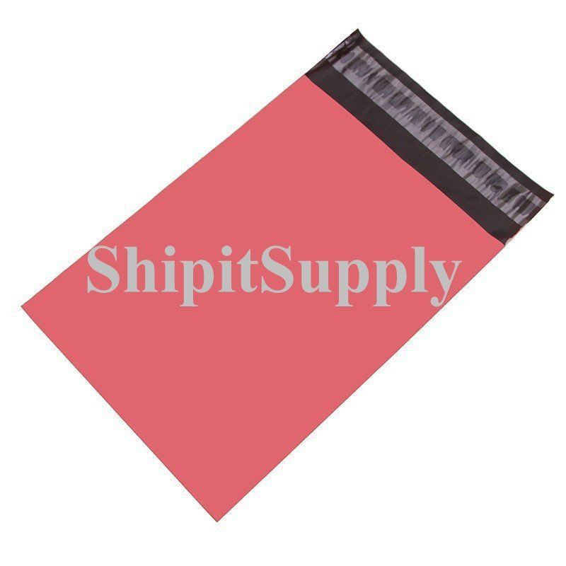 2.5 Mil 1-1000 10x13 ( Pink ) Color Poly Mailers Shipping Boutique Bags