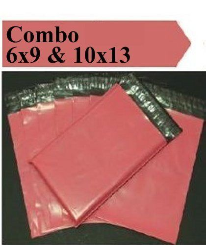 2.5 Mil 2-1000 6x9 10x13 ( Pink ) Color  Poly Mailers Boutique Fast Shipping