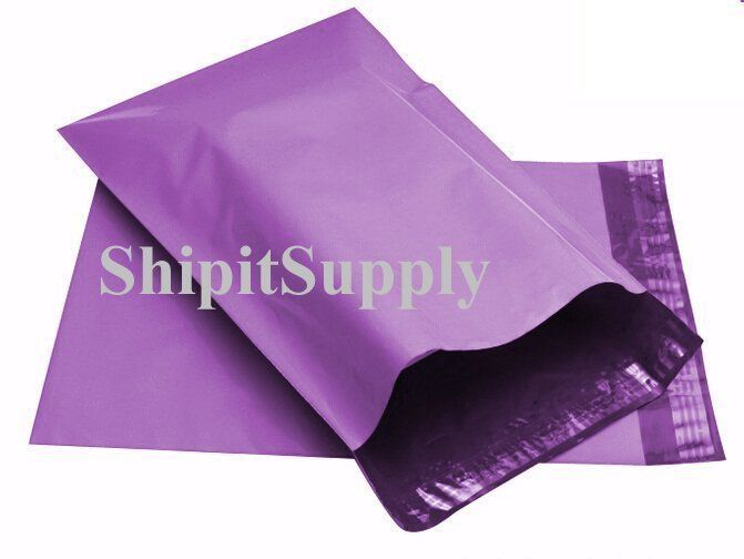 2.5 Mil 1-1000 10x13 ( Purple ) Color Poly Mailers Shipping Boutique Bags