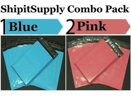 2.5 Mil 2-1000 9x12 ( Blue & Pink ) Color Combo Poly Mailers Ship Boutiq... - $1.48+