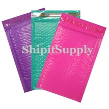 3-600 #000 4x8 ( Purple Blue & Red ) Color Poly Bubble Mailers Fast Ship... - $3.49+