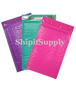 3-500 #000 ( Pink Purple & Teal ) Combo Poly Color Bubble Padded Mailers... - $3.46+