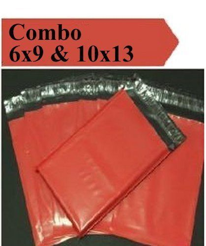2.5 Mil 2-1000 6x9 10x13 ( Red ) Combo Color  Poly Mailers Boutique Bags