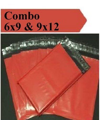 2.5 Mil 2-1000 6x9 9x12 ( Red ) Combo Color  Poly Mailers Boutique Bags