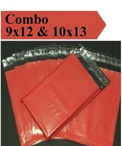 2.5 Mil 2-1000 9x12 10x13 ( Red ) Combo Color Poly Mailers Boutique Bags