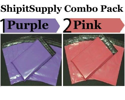 2.5 Mil 2-1000 9x12  ( Purple & Pink ) Color Combo Poly Mailers Boutique Bags