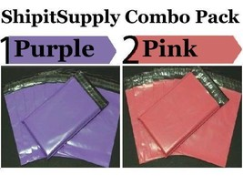 2-1000 9x12  ( Purple & Pink ) Color Poly Mailers Boutique Bags Fast Shi... - $1.49+