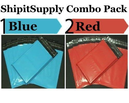 2.5 Mil 2-1000 9x12 ( Blue & Red ) Color Combo Poly Mailers Ship Boutique Bags