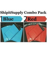2.5 Mil 2-1000 6x9 ( Blue & Red ) Color Combo Poly Mailers Ship Boutique... - $1.28+