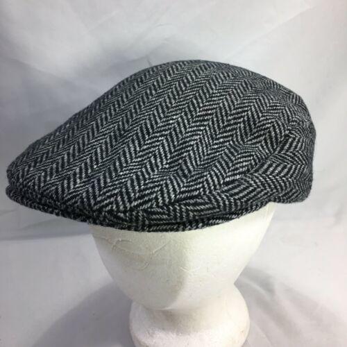 DORMAN PACIFIC DPC Gatsby Newsboy Cabbie Hat Cap Herringbone Wool Blend Medium image 6
