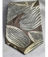 Vito Rufolo Silk Tie Silver Geometric Leafy Design On Beige Necktie  - $6.66