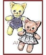 Vintagel Pattern for Cloth Kittern Twins - $6.49
