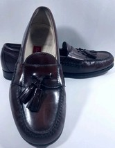 Cole Haan City Mens Shoes Brown Leather Pinch Tassel Loafers Lined Size 10D - $22.43