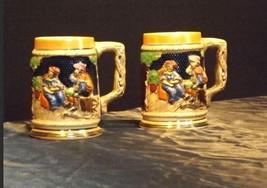 AB 168  Vintage Ceramic  Beer Mug Stein Set Of 2 - $29.35