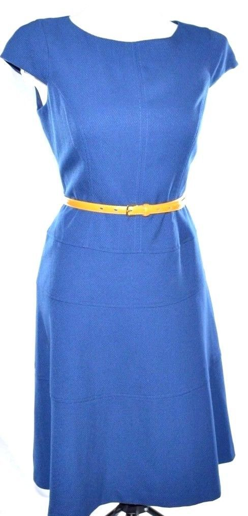 Primary image for Anne Klein Textured Blue Dress S Small 2-4
