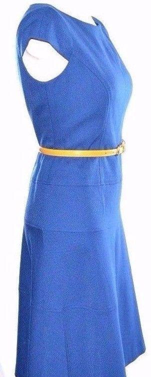 Anne Klein Textured Blue Dress S Small 2-4