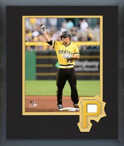 Adam Frazier 2016 Pittsburgh Pirates - 11 x 14 Team Logo Matted/Framed Photo - $42.95