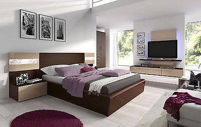 ESF Maya Bedroom Set Queen Bed Modern Contemporary Made in Spain