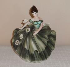 Vintage Lefton Lovely Dancing Lady in Green Pla... - $34.64