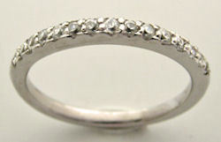 0.25 Ct Round Brilliant Cut Moissanite Micro Pave Wedding Band Ring