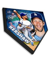 """Clayton Kershaw Los Angeles Dodgers - 11.5"""" x 11.5"""" Home Plate Plaque  - $40.95"""