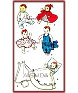 "Vintage Doll Clothing Pattern for 8""-9"" Baby Dolls  - $7.99"