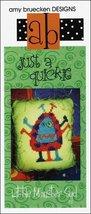 Just A Quickie: A Little Monster Syd cross stitch chart Amy Bruecken Designs - $3.60