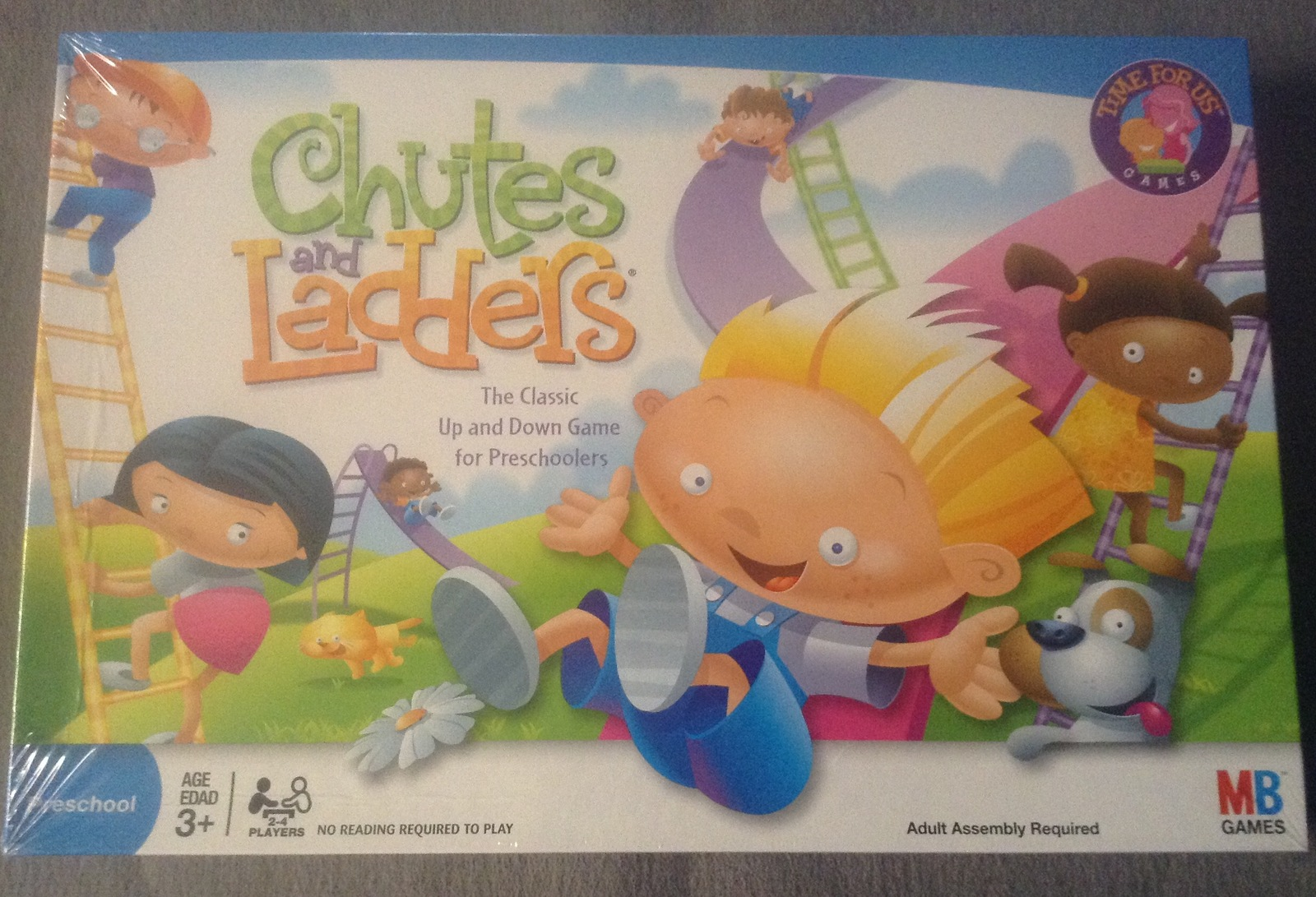 Chutes and Ladders Classic Board Game for Preschoolers 3+ Hasbro MB Games