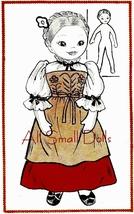 "Vintage Pattern for 16"" Cloth Doll Miss Switzerland - $6.99"