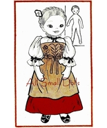 "Vintage Pattern for 16"" Cloth Doll Miss Switzerland - $6.99"