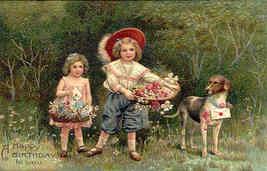 Happy Birthday Paul Finkenrath of Berlin 1908 Post Card - $8.00