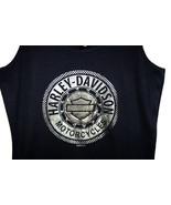 Embellished Harley-Davidson Black Tank Top Grap... - $59.99