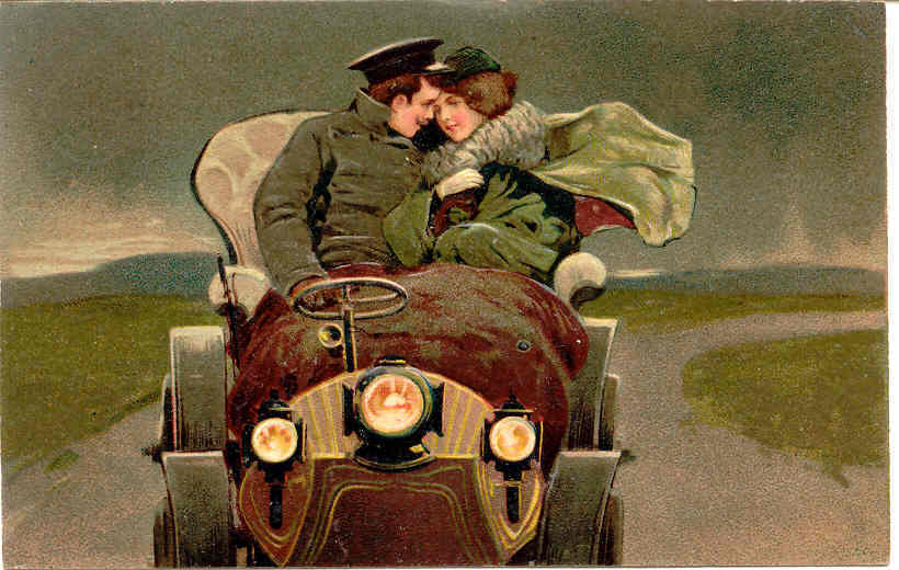 A Gentle Embrace Paul Finkenrathof Berlin 1906 Post Card