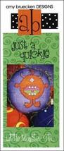 Just A Quickie: A Little Monster Stu cross stitch chart Amy Bruecken Designs - $3.60