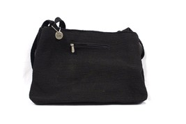 The Sak Crochet Handbag Purse Handle Bag Large Tote Black - $74.78