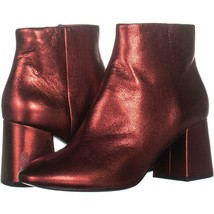 Ash Heroin Block Heel Ankle Boots 232, Red Leather, 7 US / 37 EU - €79,60 EUR