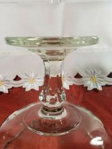Vintage Indiana Glass Clear Teardrop Footed Compote Fruit Bowl image 7