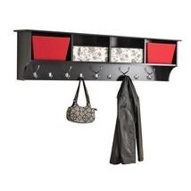"""Wall Hanging Coat Rack Shelf Storage 60"""" Hook Entryway Hallway Brown Mou... - $200.56"""