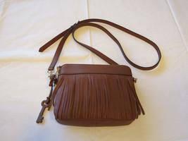Fossil ZB6707200 Sydney Fringe Crossbody Brown Multi purse NWT*^ - $168.29
