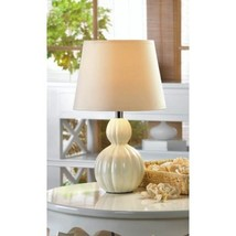 Lovely MINI Lamp White Ivory Ceramic Base Table Lamp - $25.28